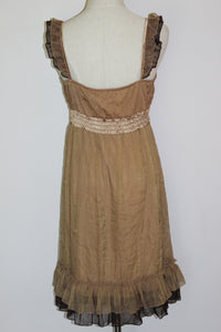 Gold Frills Dress Size 12 & 14 * CLEARANCE *