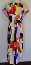 Load image into Gallery viewer, Tulips Geo Print Dress Size 12