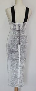 Premonition Black and White Mesh Dress Size 8