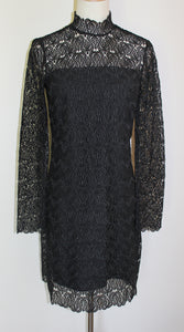 Witchery Black Long Sleeve Lace Dress Size 6