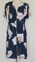 Load image into Gallery viewer, Tulips Floral Zip Front Dress Size 14