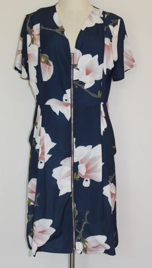 Tulips Floral Zip Front Dress Size 14