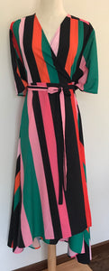 Tulips Stripe Wrap dress size 12