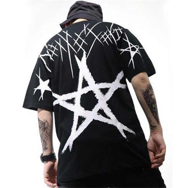 Star Printed Hip Hop Tee
