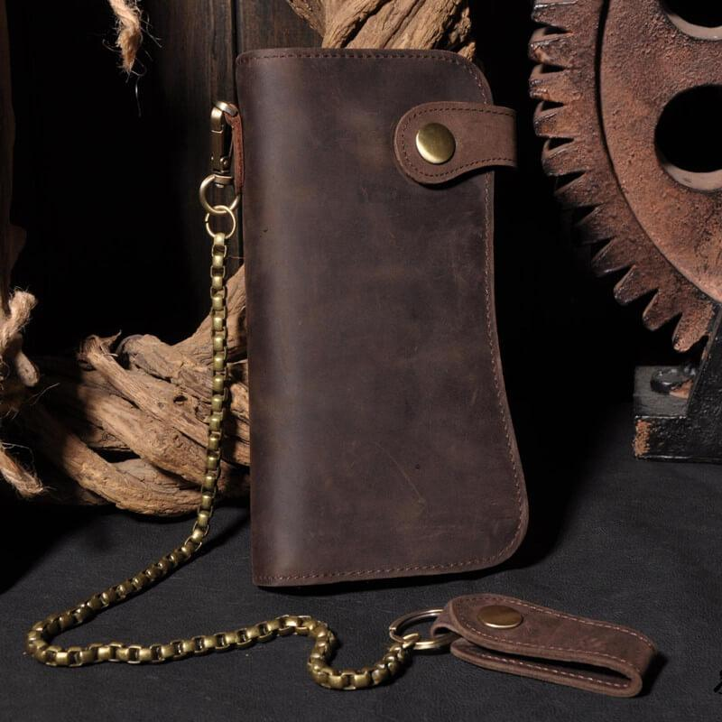 RFID Retro Crazy Horse Leather Wallet