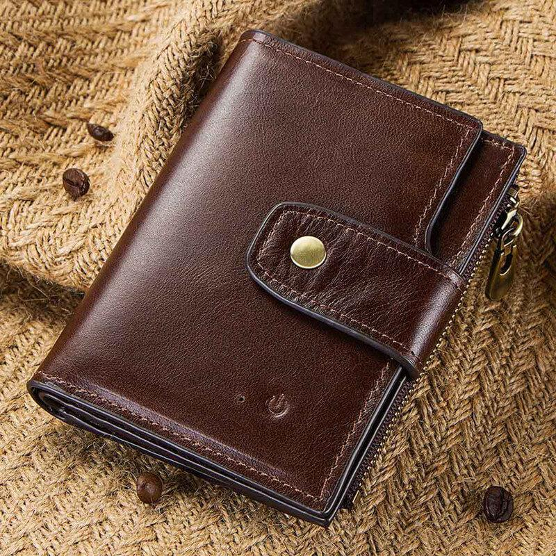 RFID Smart Bluetooth Anti-lost Leather Wallet