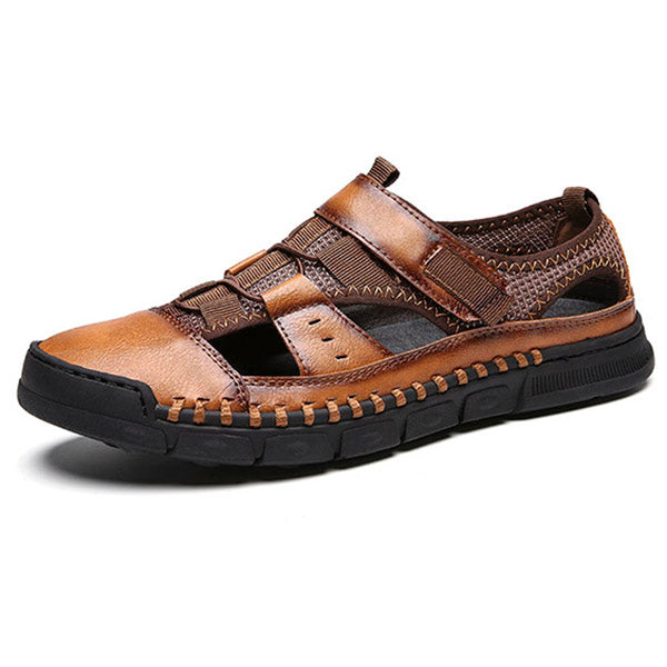Leather Men Sandals Beach Slippers Outdoor Beach Shoes