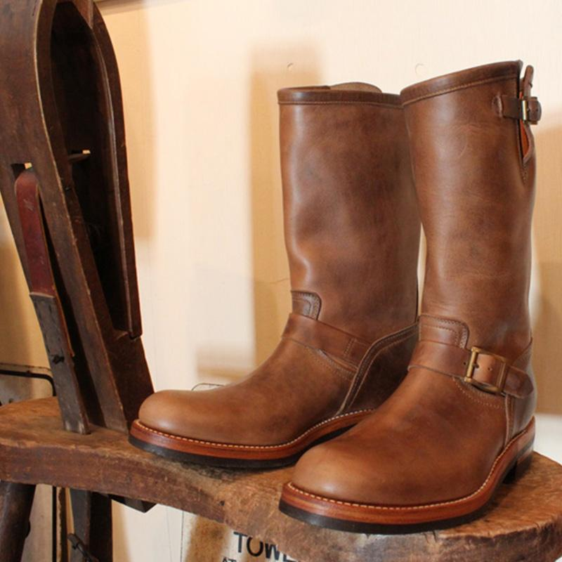 Men's Leather Engineer Boots