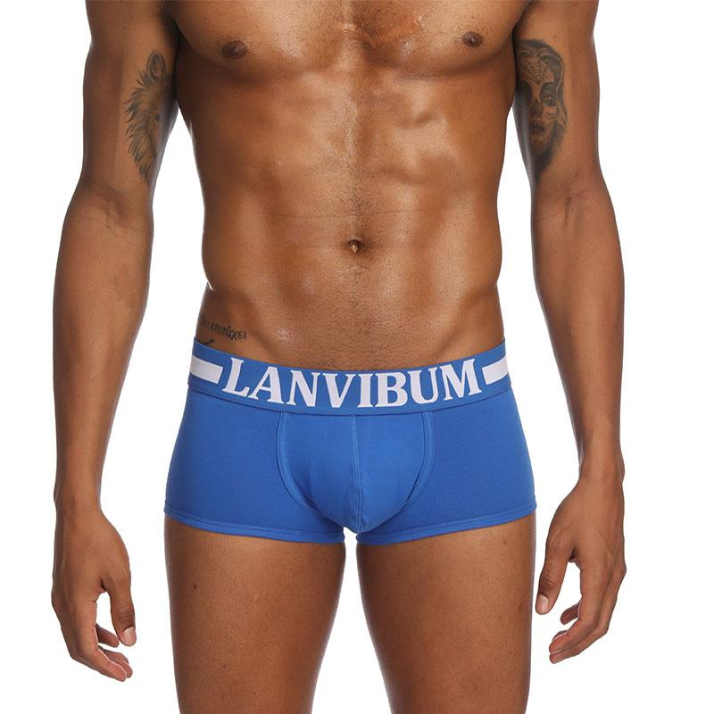 Cotton Men's Low Waist Boxer Briefs