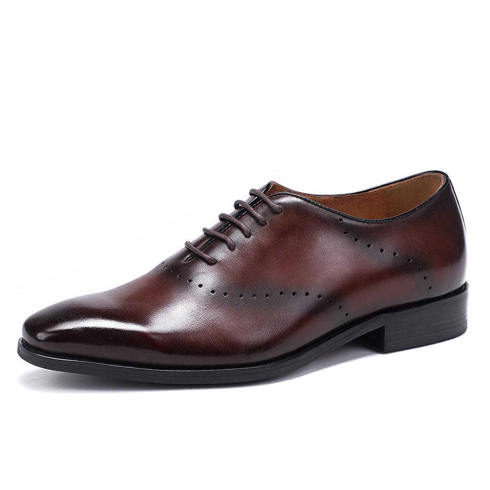 Men's Leather Carved Oxford Shoes