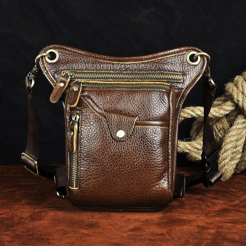 Oil Wax Leather Crossbody Bag