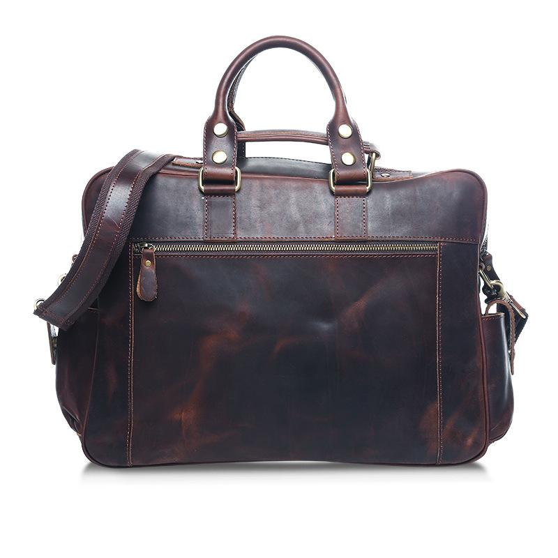 Men Leather Travel  Handbag