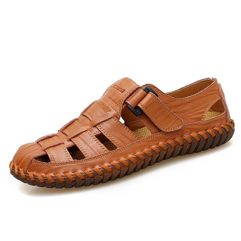 Plus Size Men Leather Sandals