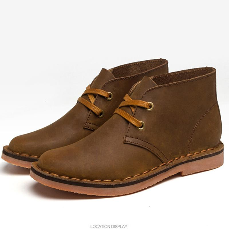 Men's British Leather Desert Boots Ankle Boots