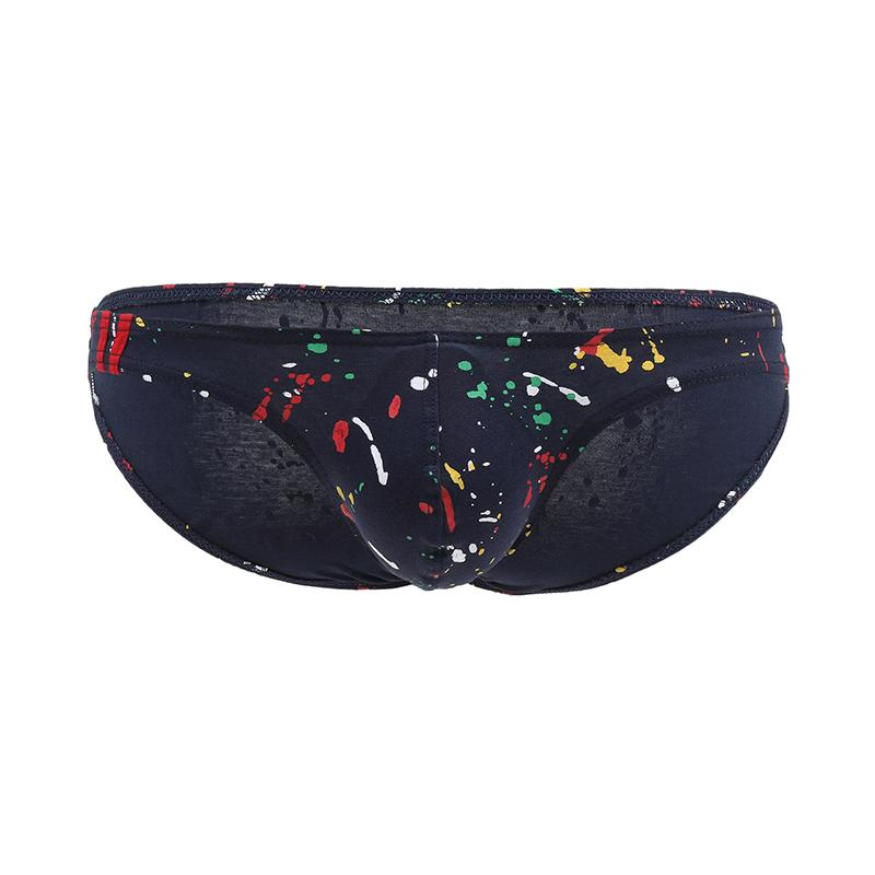 Printed Cotton Men's Low Waist Briefs