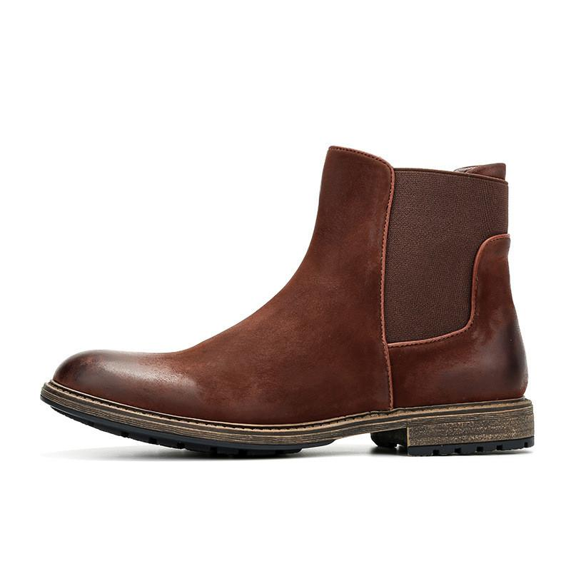 Men Leather Chelsea Boots