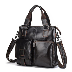 Men's Leather Handbag Casual Briefcase