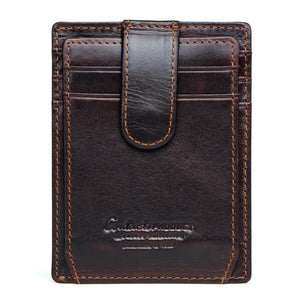 Men Leather RFID Locking Vintage Wallet