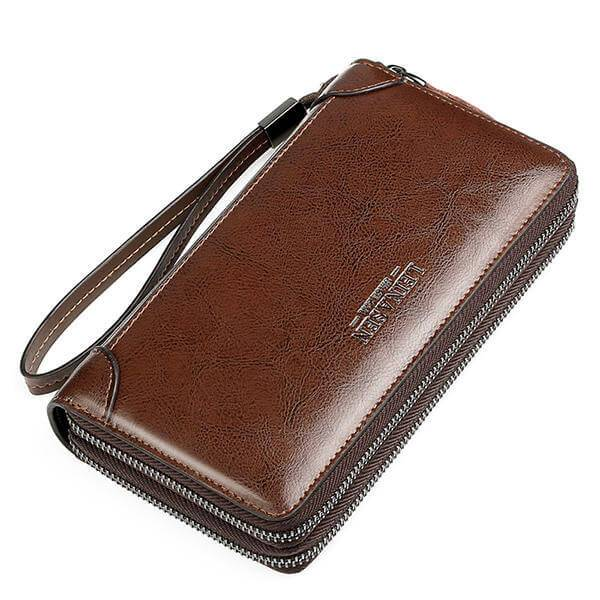Multi-function Business Leather Clutch Bag