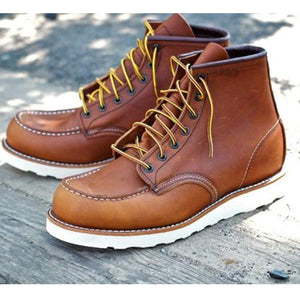 Men Leather Work Boots