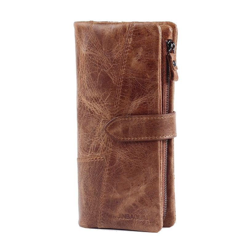 Men Leather Long Wallet