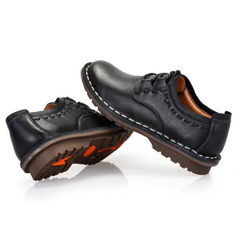 Men's Casual Genuine Leather Driving Flat Shoes
