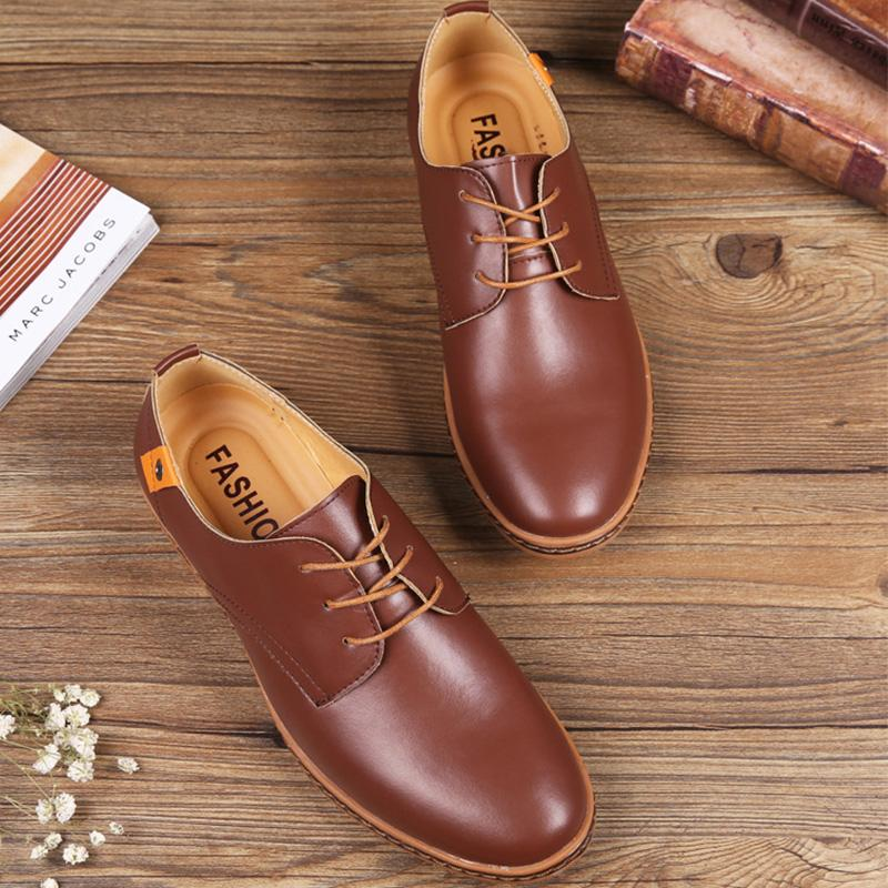 Large Size Business Casual Men Leather Shoes