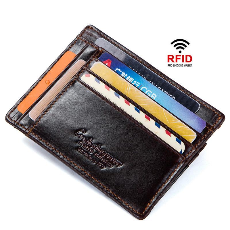 Men's Leather Wallet Card Package