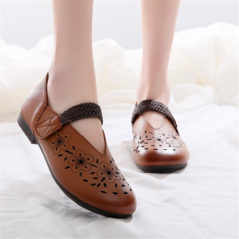 Women's Vintage Art Leather Soft Sandals