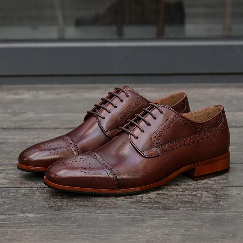 Men Carving Leather Dress Shoes