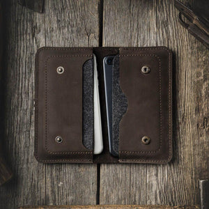 Handmade Leather Wallet Phone Wallet Case