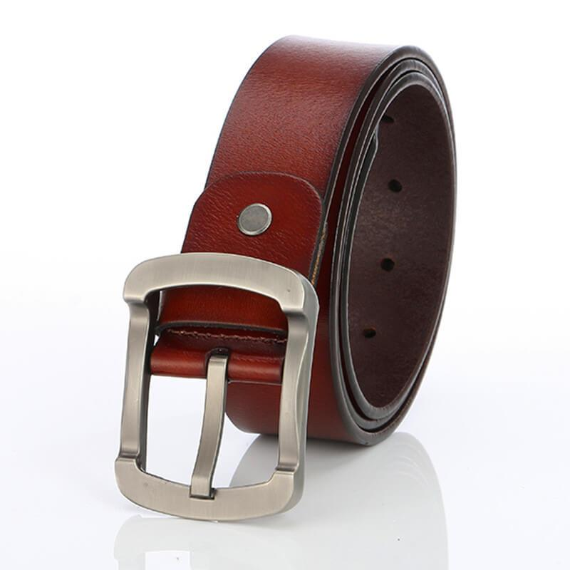 Men's Retro Concave Buckle Belt