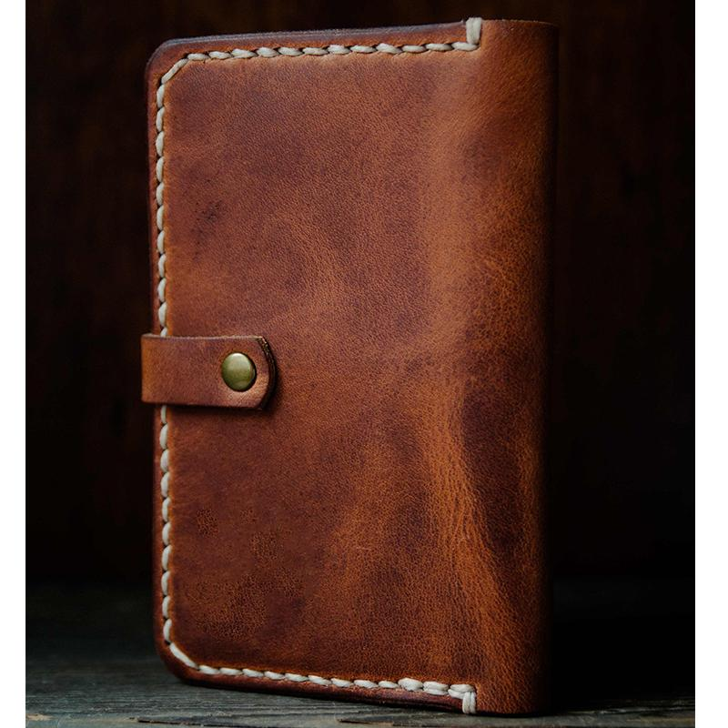Men Leather Notebook Travel Wallet