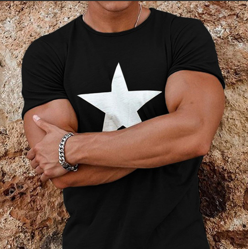 Star Print Cotton Tee