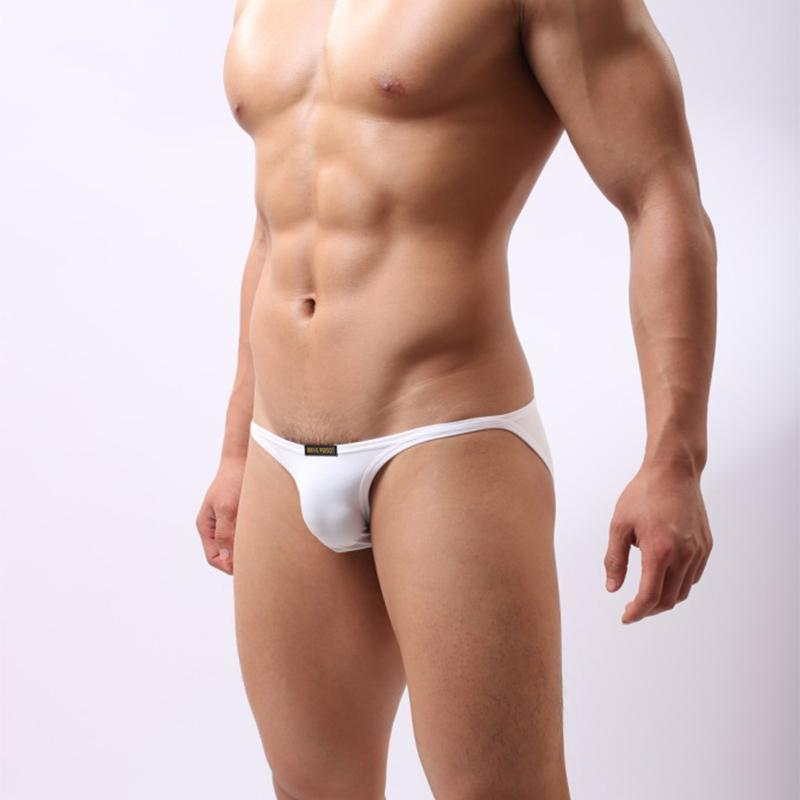 Men Ice Silk Low Waist Briefs