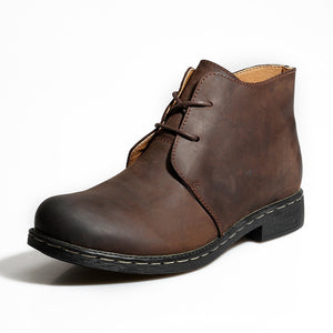 Men Leather Desert Boots