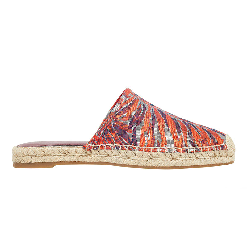 Women's Multicolor Leaves Espadrille Slide