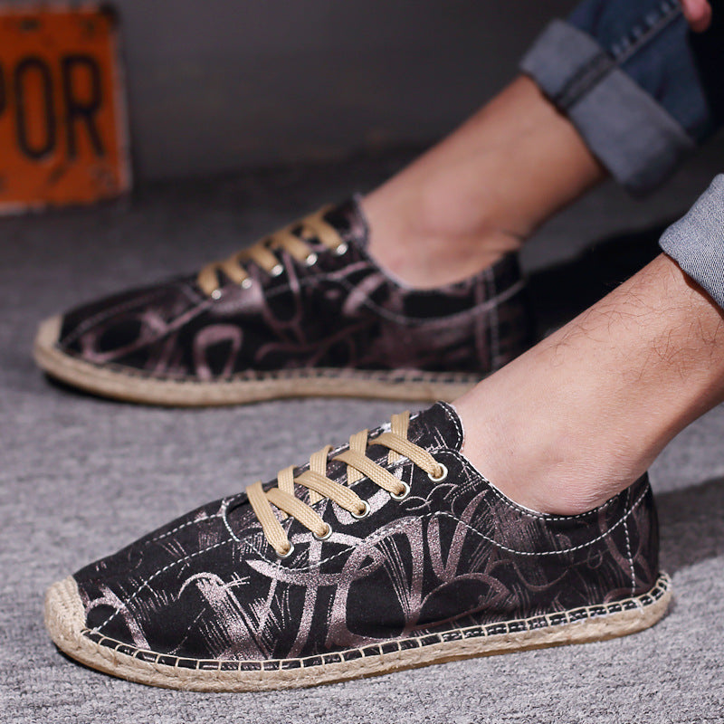 Men Printed Flat Shoes