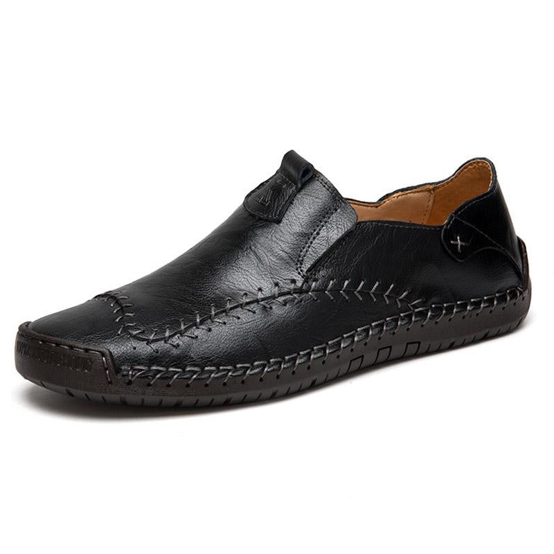 Men Leather Soft Bottom Slip-on Shoes