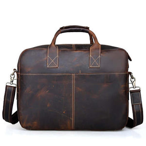 Men Crazy Horse Leather Handbag