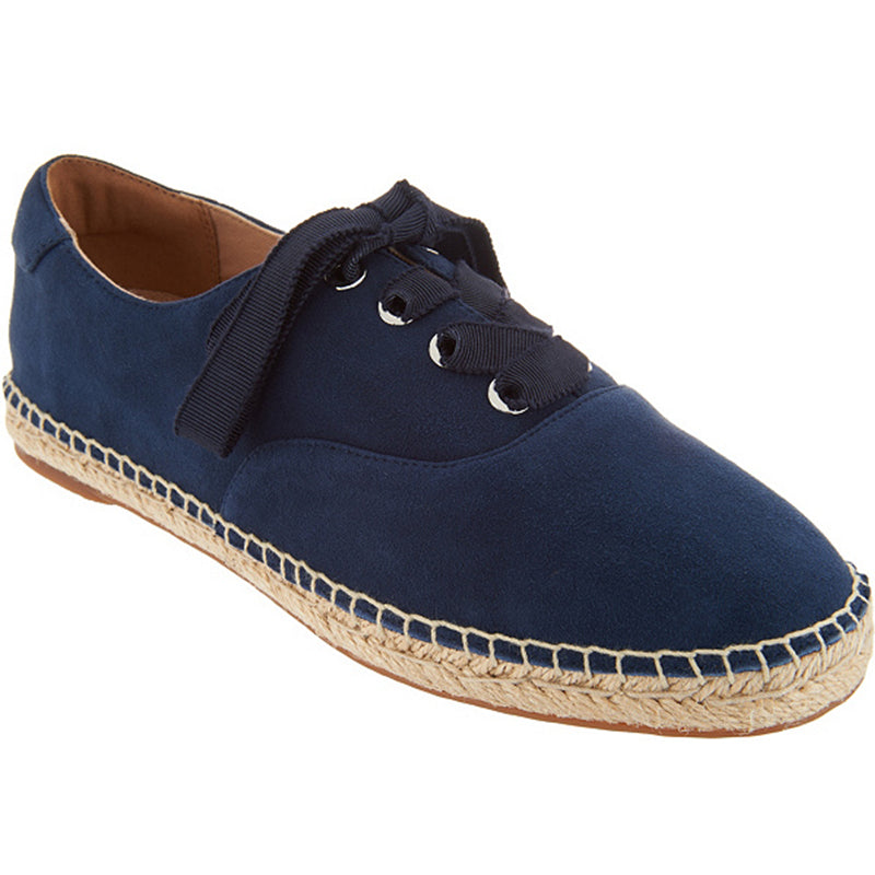 Women's Suede Lace-Up Espadrilles
