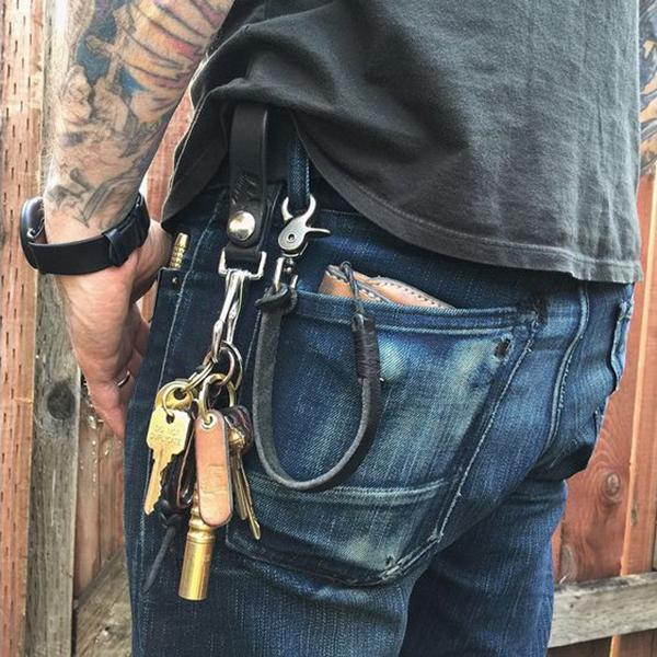 Leather Copper Key Buckle