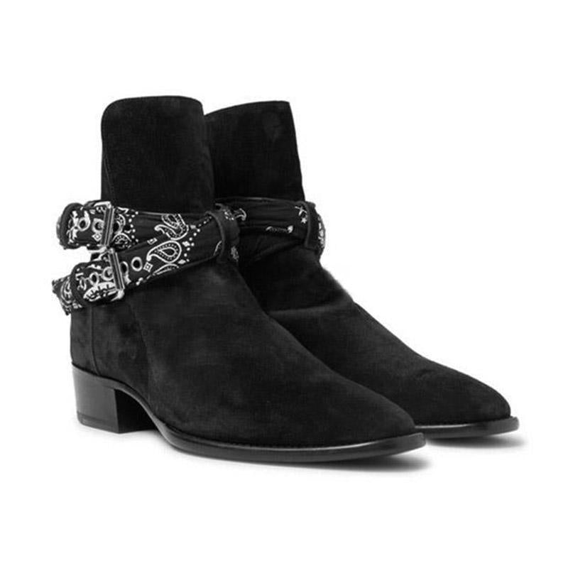 Men Leather Chain Chelsea Boot