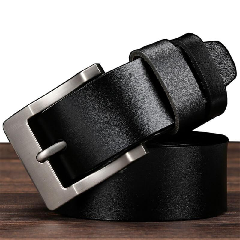 Men's leather business casual pin belt