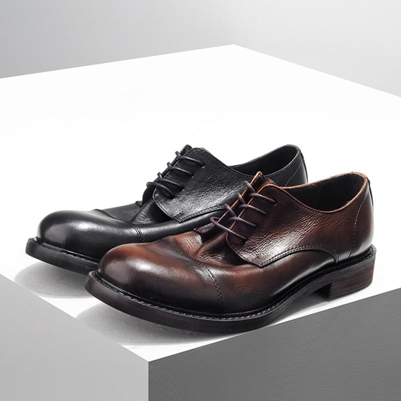 Men's Round Toe Vintage Leather Shoes