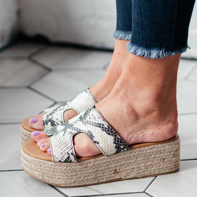 Summer Casual Platform Wedge Sandals Espadrille