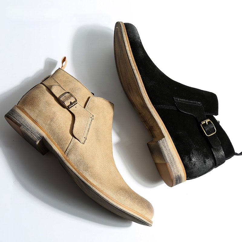 Men Suede Ankle Boots
