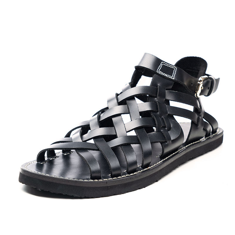 Men Hand-Woven Vintage Leather Sandals