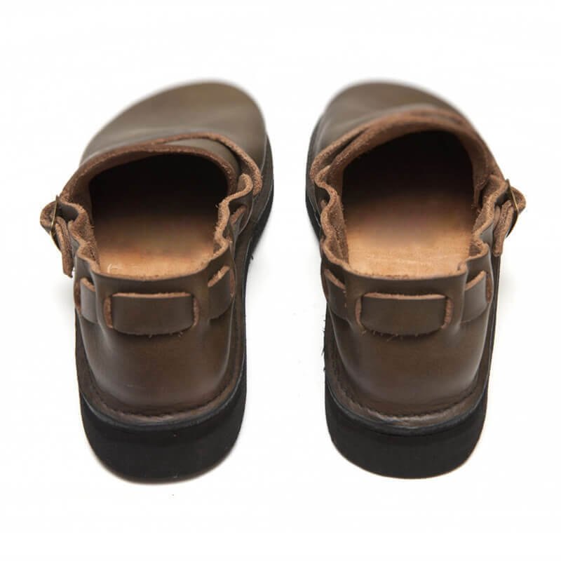 Men Soft Toe Leather Slip-On Shoes