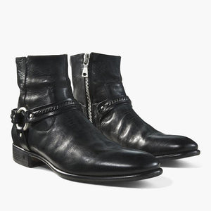 Men's Zipper Leather Boots